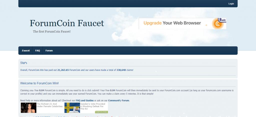 ForumCoin Faucet