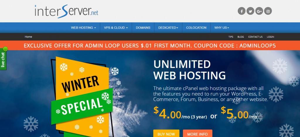 InterServer - Affordable Hosting