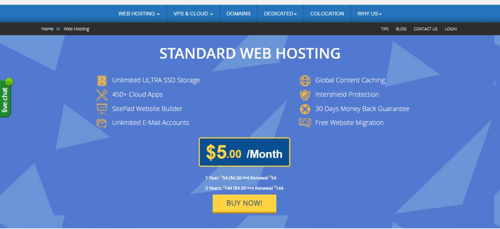 InterServer - Affordable Shared Hosting