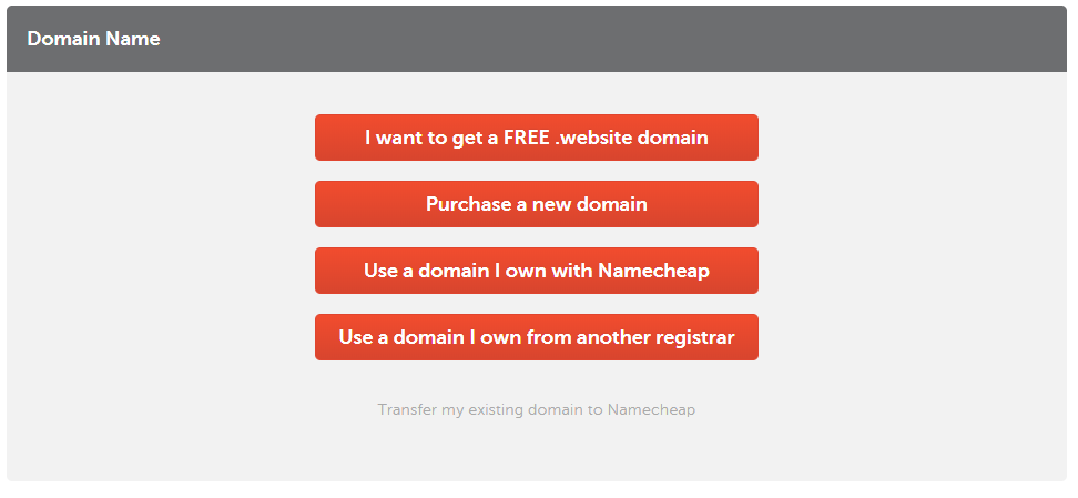 Namecheap - Picking a domain choice