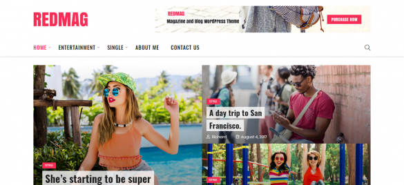 RedMag WordPress Theme - April Freebie
