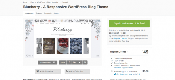 Blueberry - FREE WordPress Theme